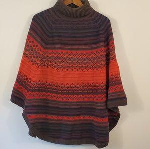 Coldwater Creek wool sweater poncho m/l